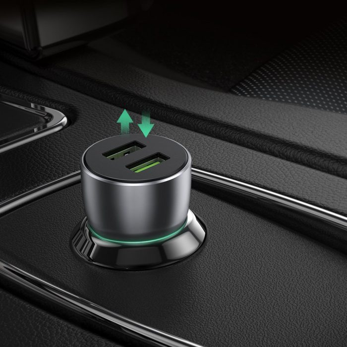 car chargers - ugreen fast car charger 2x usb quick charge 3.0 36 w 3 a gray (cd213 60713) - 5 - krytarna.cz
