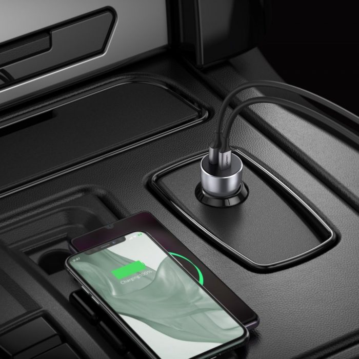 car chargers - ugreen fast car charger usb / usb typ c quick charge 3.0 power delivery 36 w 3 a gray (cd213 60980) - 8 - krytarna.cz