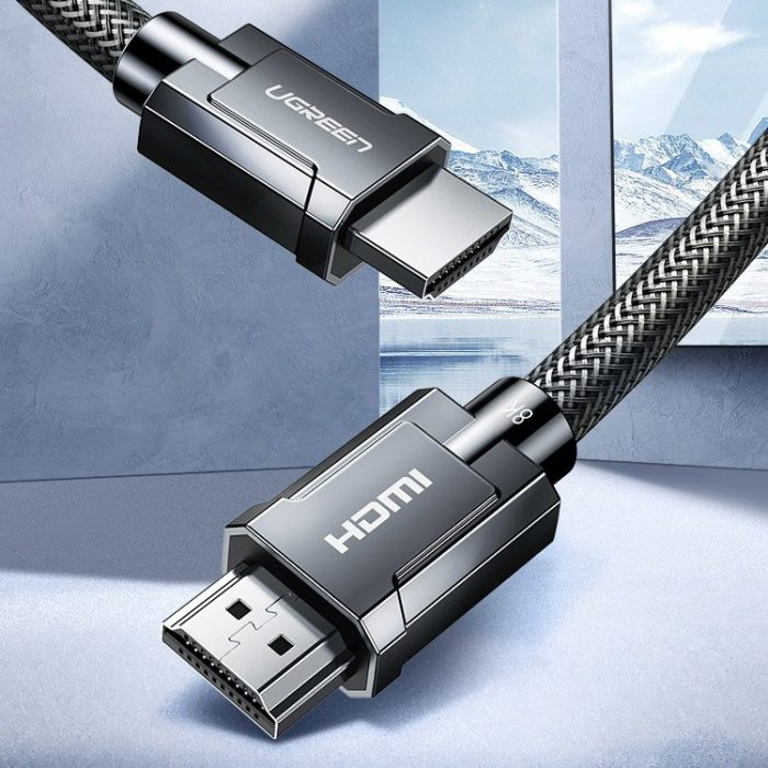 video - ugreen hdmi 2.1 cable 8k 60 hz / 4k 120 hz 3d 48 gbps hdr vrr qms allm earc qft 1