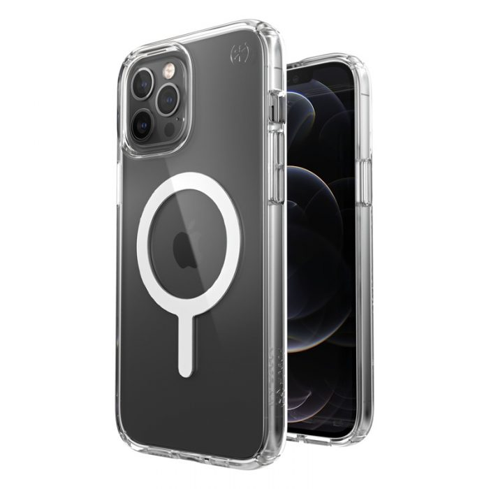 iphone 12 pro max - speck presidio perfect clear + magsafe apple iphone 12 pro max case with microban (clear) - 4 - krytarna.cz