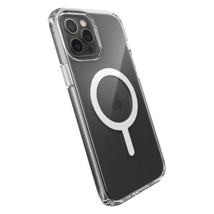 iphone 12 pro max - speck presidio perfect clear + magsafe apple iphone 12 pro max case with microban (clear) - 5 - krytarna.cz