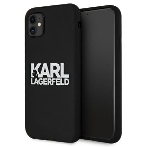 iphone 11 - karl lagerfeld klhcn61slklrbk apple iphone 11 silicone stack logo black - 1 - krytarna.cz