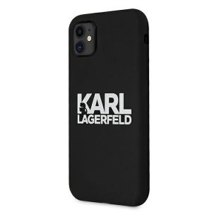 iphone 11 - karl lagerfeld klhcn61slklrbk apple iphone 11 silicone stack logo black - 2 - krytarna.cz