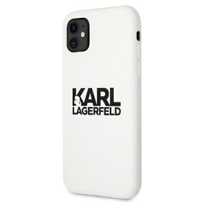 iphone 11 - karl lagerfeld klhcn61slklwh apple iphone 11 silicone stack logo white - 2 - krytarna.cz