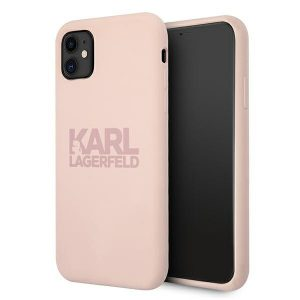 iphone 11 - karl lagerfeld klhcn61stkltlp apple iphone 11 silicone stack logo pink - 1 - krytarna.cz