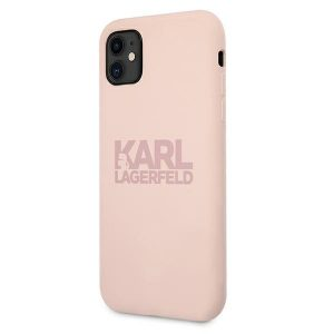 iphone 11 - karl lagerfeld klhcn61stkltlp apple iphone 11 silicone stack logo pink - 2 - krytarna.cz