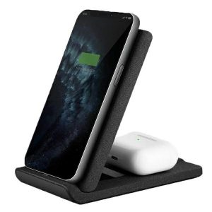 Wireless chargers - UNIQ Wireless Charger Vertex Duo 2in1 15W Fast charge charcoal grey - 1 - krytarna.cz