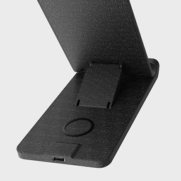 wireless chargers - uniq wireless charger vertex duo 2in1 15w fast charge charcoal grey - 6 - krytarna.cz
