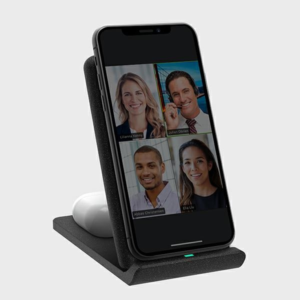 wireless chargers - uniq wireless charger vertex duo 2in1 15w fast charge charcoal grey - 7 - krytarna.cz