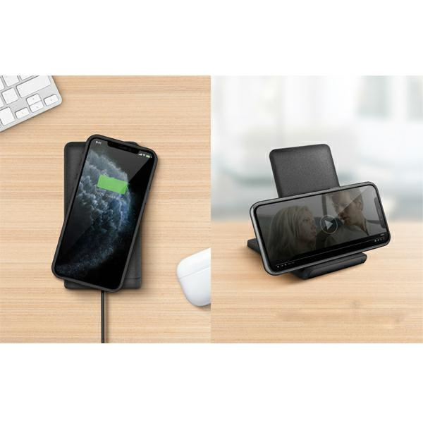 wireless chargers - uniq wireless charger vertex duo 2in1 15w fast charge charcoal grey - 9 - krytarna.cz