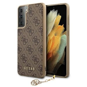 S21 Plus - Guess GUHCS21MGF4GBR Samsung Galaxy S21+ Plus brown hardcase 4G Charms Collection - 1 - krytarna.cz