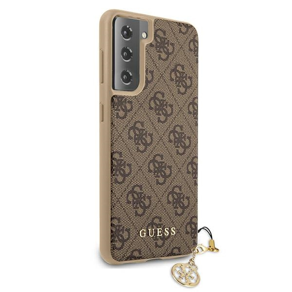 s21 - guess guhcs21sgf4gbr samsung galaxy s21 brown hardcase 4g charms collection - 4 - krytarna.cz