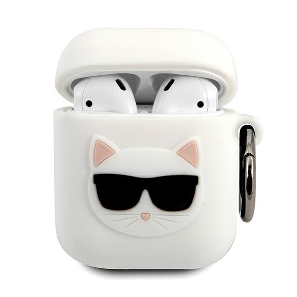 airpods - karl lagerfeld klaca2silchwh apple airpods cover white silicone choupette - 1 - krytarna.cz