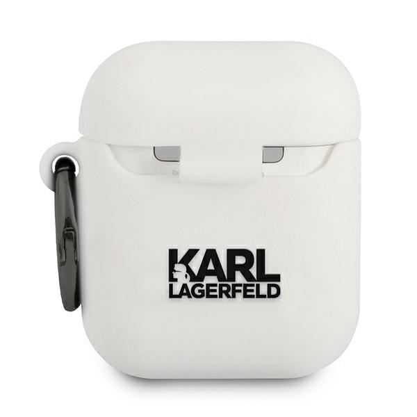 airpods - karl lagerfeld klaca2silchwh apple airpods cover white silicone choupette - 2 - krytarna.cz