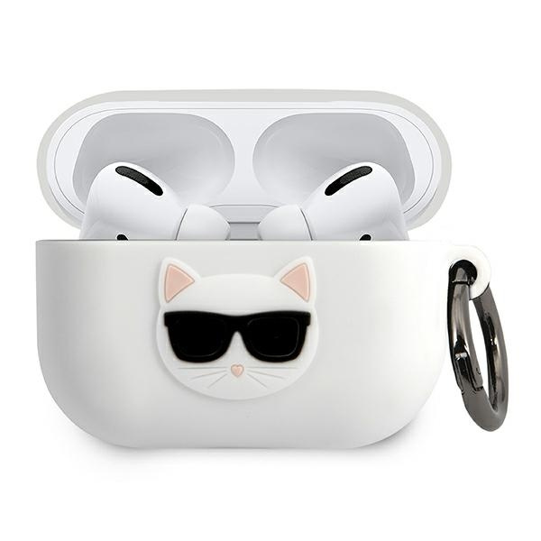 airpods - karl lagerfeld klacapsilchwh apple airpods pro cover white silicone choupette - 1 - krytarna.cz