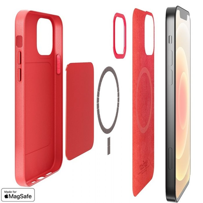 iphone 12 pro - puro skymag magsafe apple iphone 12/12 pro (red) - 2 - krytarna.cz