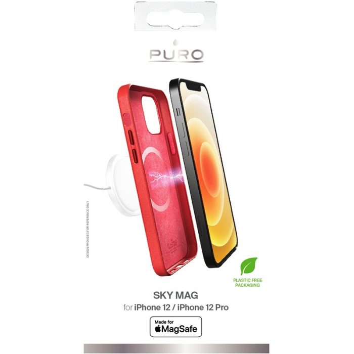 iphone 12 pro - puro skymag magsafe apple iphone 12/12 pro (red) - 3 - krytarna.cz
