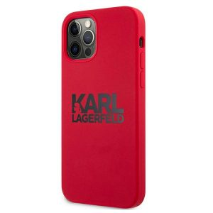 iPhone 12 Pro Max - Karl Lagerfeld KLHCP12LSLKLRE Apple iPhone 12 Pro Max Silicone Stack Logo red - 2 - krytarna.cz