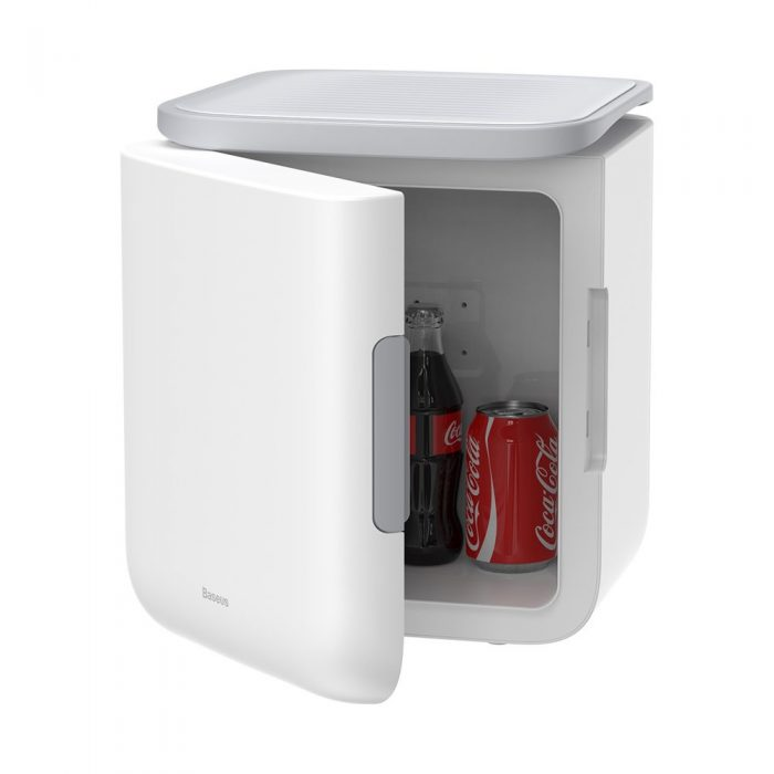 other accessories - baseus igloo mini fridge for students 6l eu (cooler and warmer) (acxbw-a02) white - 1 - krytarna.cz