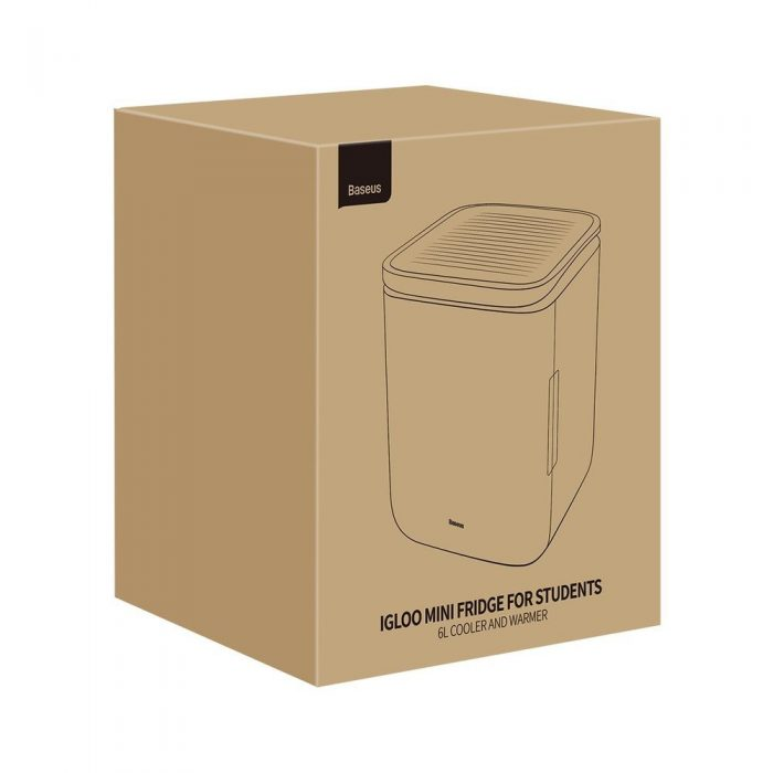 other accessories - baseus igloo mini fridge for students 6l eu (cooler and warmer) (acxbw-a02) white - 5 - krytarna.cz