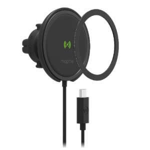 Mounts - Mophie Snap+ Wireless Charge Vent Mount MagSafe 15W (black) - 1 - krytarna.cz