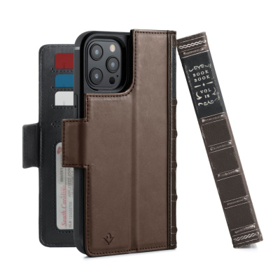 iphone 12 pro max - twelve south bookbook leather magsafe apple iphone 12 pro max (brown) - 1 - krytarna.cz