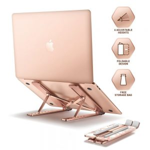 mounts - supcase cosmo universal laptop stand marble - 2 - krytarna.cz