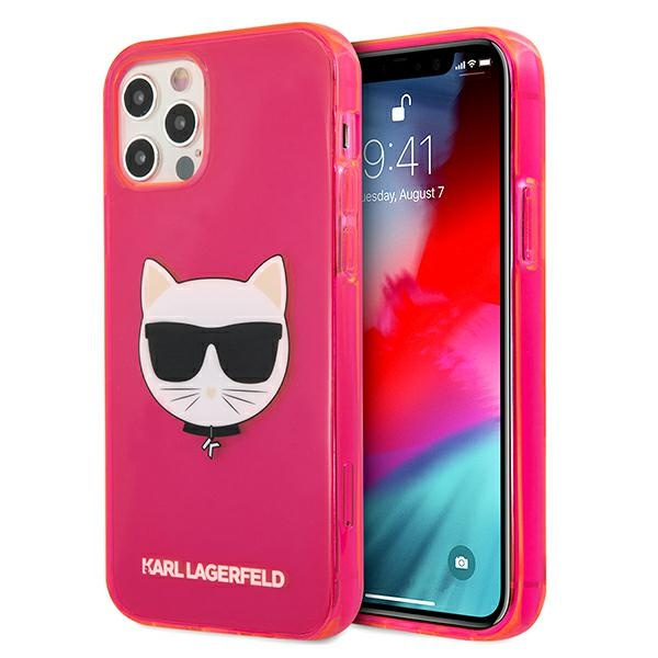 iphone 12 pro max - karl lagerfeld klhcp12lchtrp apple iphone 12 pro max pink hardcase glitter choupette fluo - 1 - krytarna.cz