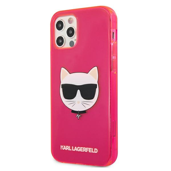 iphone 12 pro max - karl lagerfeld klhcp12lchtrp apple iphone 12 pro max pink hardcase glitter choupette fluo - 2 - krytarna.cz
