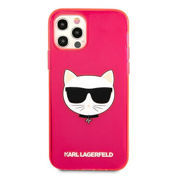 iphone 12 pro max - karl lagerfeld klhcp12lchtrp apple iphone 12 pro max pink hardcase glitter choupette fluo - 3 - krytarna.cz