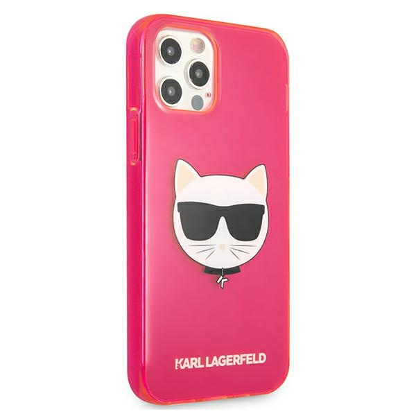 iphone 12 pro max - karl lagerfeld klhcp12lchtrp apple iphone 12 pro max pink hardcase glitter choupette fluo - 4 - krytarna.cz