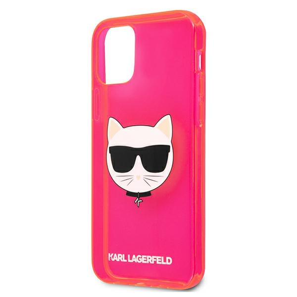 iphone 12 pro max - karl lagerfeld klhcp12lchtrp apple iphone 12 pro max pink hardcase glitter choupette fluo - 6 - krytarna.cz