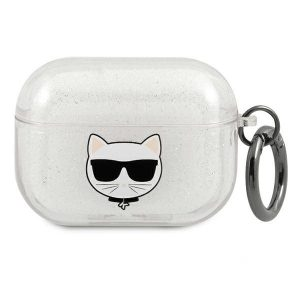 AirPods - Karl Lagerfeld KLAPUCHGS Apple AirPods Pro cover silver Glitter Choupette - 1 - krytarna.cz