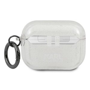 AirPods - Karl Lagerfeld KLAPUCHGS Apple AirPods Pro cover silver Glitter Choupette - 2 - krytarna.cz