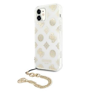 iPhone 11 - Guess GUHCN61KSPEGO Apple iPhone 11 gold hardcase Peony Chain Collection - 2 - krytarna.cz