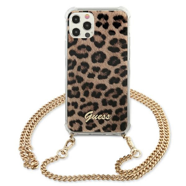 iphone 12 pro max - guess guhcp12lkcleo apple iphone 12 pro max leopard hardcase gold strap - 3 - krytarna.cz