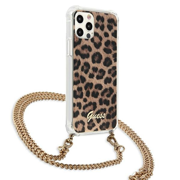 iphone 12 pro max - guess guhcp12lkcleo apple iphone 12 pro max leopard hardcase gold strap - 4 - krytarna.cz