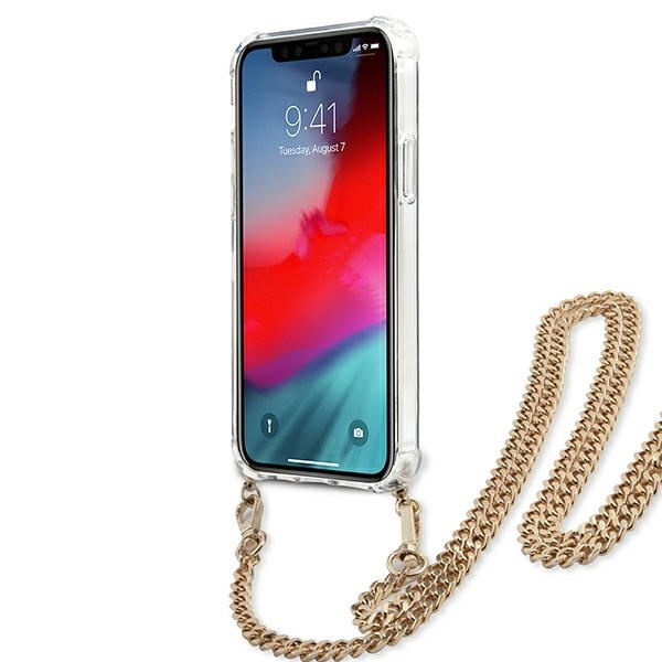 iphone 12 pro max - guess guhcp12lkcleo apple iphone 12 pro max leopard hardcase gold strap - 5 - krytarna.cz