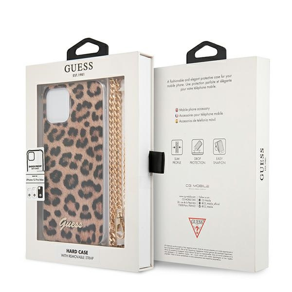 iphone 12 pro max - guess guhcp12lkcleo apple iphone 12 pro max leopard hardcase gold strap - 8 - krytarna.cz