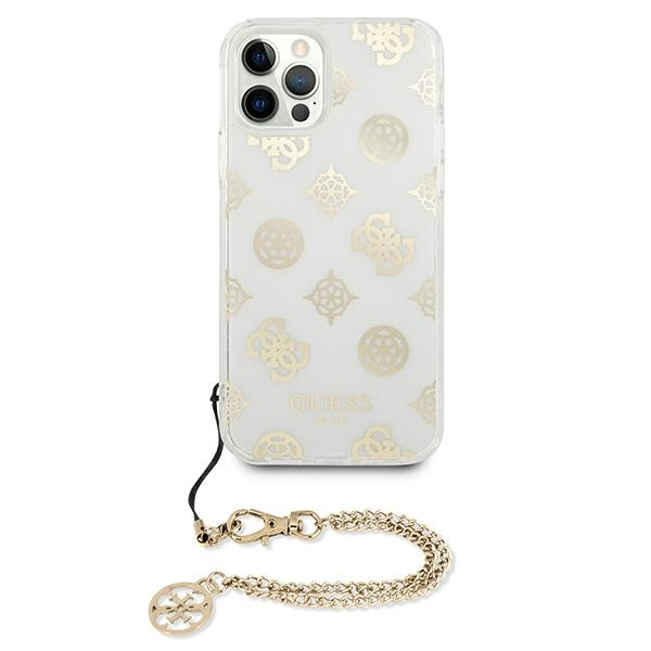 iphone 12 pro max - guess guhcp12lkspego apple iphone 12 pro max gold hardcase peony chain collection - 3 - krytarna.cz