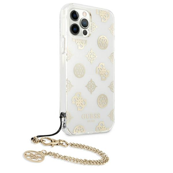 iphone 12 pro max - guess guhcp12lkspego apple iphone 12 pro max gold hardcase peony chain collection - 4 - krytarna.cz