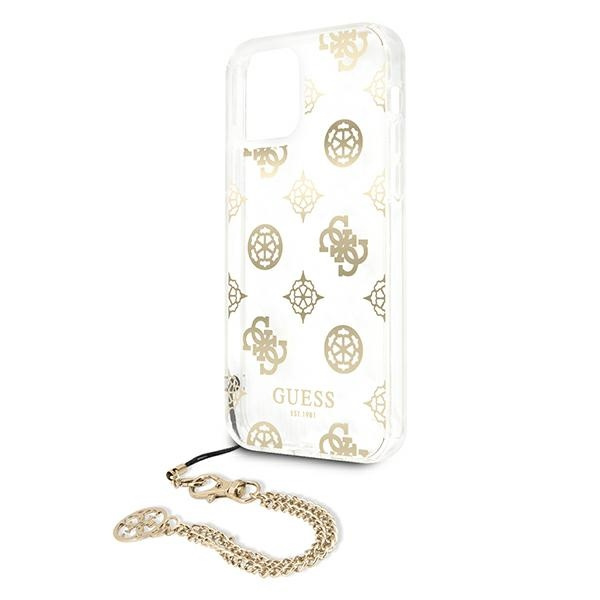 iphone 12 pro max - guess guhcp12lkspego apple iphone 12 pro max gold hardcase peony chain collection - 6 - krytarna.cz