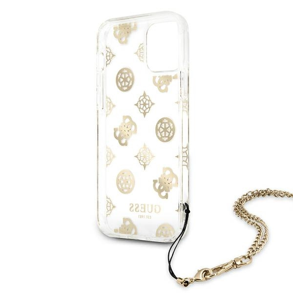 iphone 12 pro max - guess guhcp12lkspego apple iphone 12 pro max gold hardcase peony chain collection - 7 - krytarna.cz