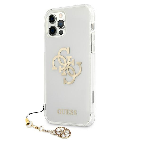 iphone 12 pro max - guess guhcp12lks4ggo apple iphone 12 pro max transparent hardcase 4g gold charms collection - 2 - krytarna.cz