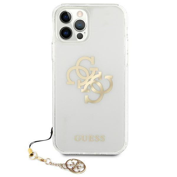 iphone 12 pro max - guess guhcp12lks4ggo apple iphone 12 pro max transparent hardcase 4g gold charms collection - 3 - krytarna.cz