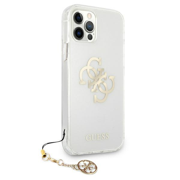 iphone 12 pro max - guess guhcp12lks4ggo apple iphone 12 pro max transparent hardcase 4g gold charms collection - 4 - krytarna.cz