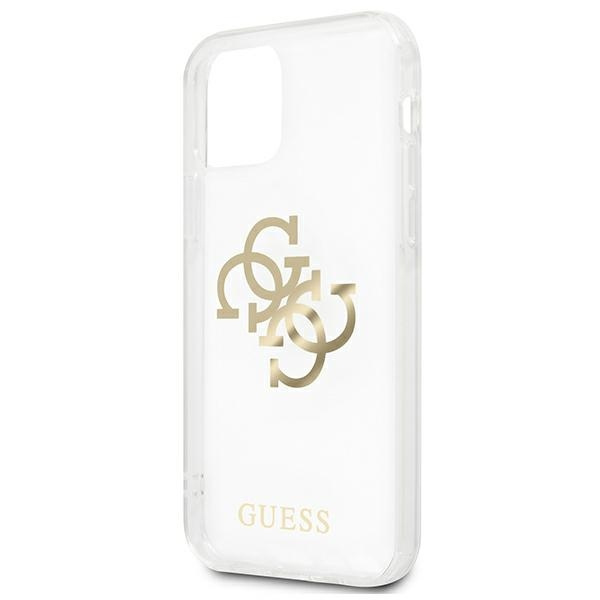 iphone 12 pro max - guess guhcp12lks4ggo apple iphone 12 pro max transparent hardcase 4g gold charms collection - 6 - krytarna.cz