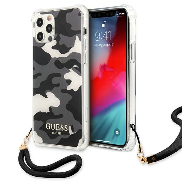 iphone 12 pro max - guess guhcp12lksarbk apple iphone 12 pro max black hardcase camo collection - 1 - krytarna.cz