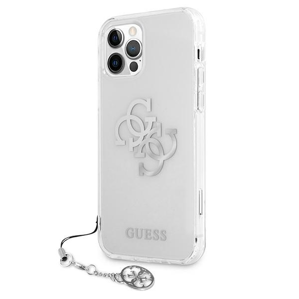iphone 12 pro max - guess guhcp12lks4gsi apple iphone 12 pro max transparent hardcase 4g silver charms collection - 2 - krytarna.cz