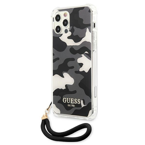 iphone 12 pro max - guess guhcp12lksarbk apple iphone 12 pro max black hardcase camo collection - 2 - krytarna.cz